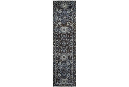 27X96 Rug-Ines Moroccan Blue