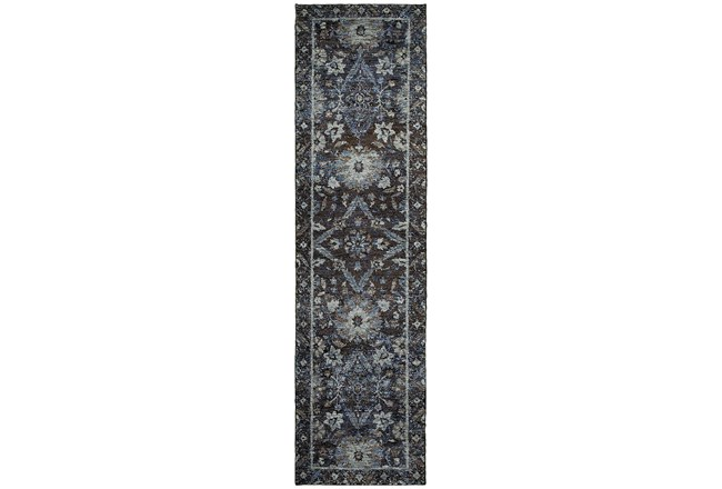 27X96 Rug-Ines Moroccan Blue - 360