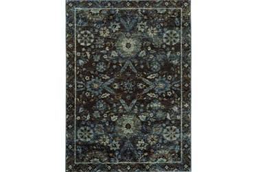 """3'3""""x5'2"""" Rug-Ines Moroccan Blue"""