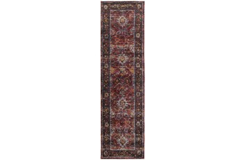 27X96 Rug-Mariam Moroccan Red
