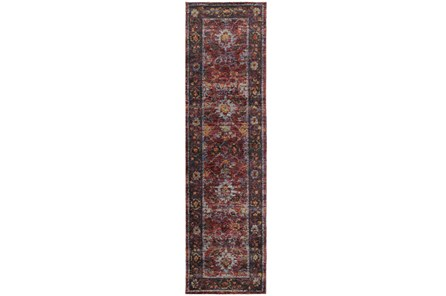27X96 Rug-Mariam Moroccan Red - Main