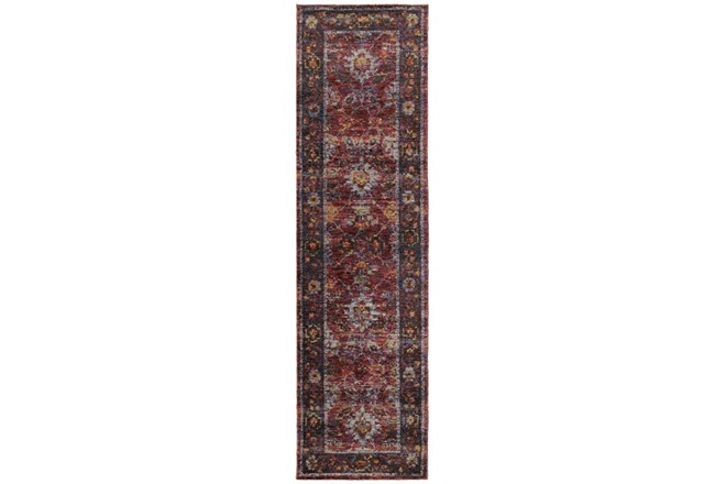 27X96 Rug-Mariam Moroccan Red - 360