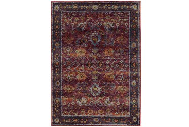 """6'6""""x9'5"""" Rug-Mariam Moroccan Red"""