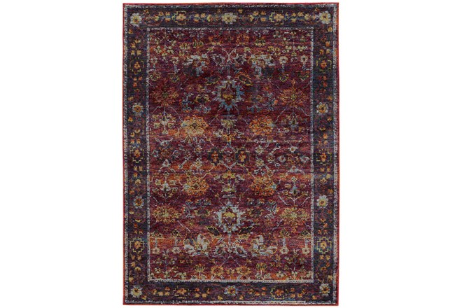 94X130 Rug-Mariam Moroccan Red - 360