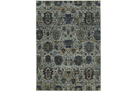 22X38 Rug-Yasmine Moroccan Blue/Olive