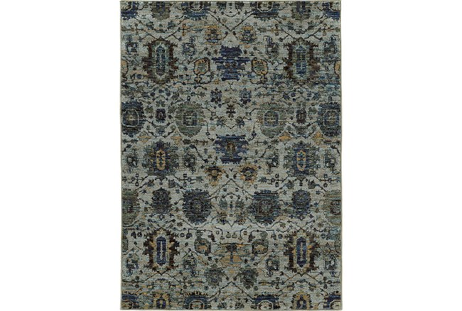 39X62 Rug-Yasmine Moroccan Blue/Olive - 360