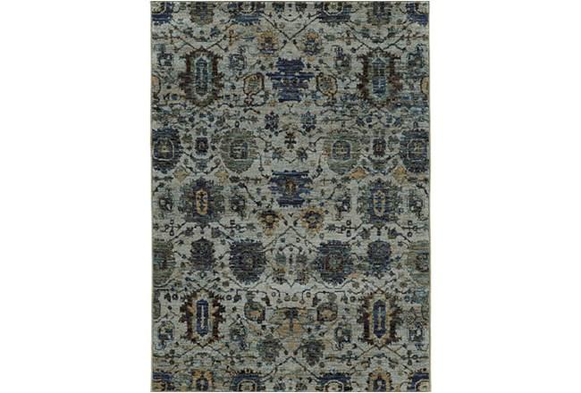 63X87 Rug-Yasmine Moroccan Blue/Olive - 360