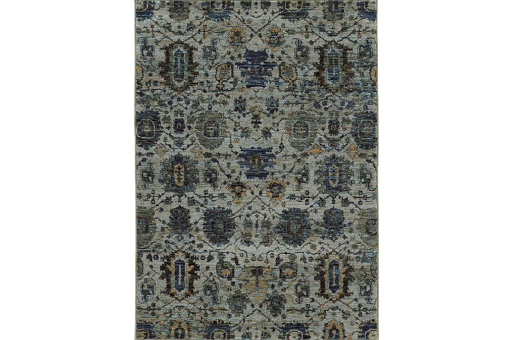 79X114 Rug-Yasmine Moroccan Blue/Olive