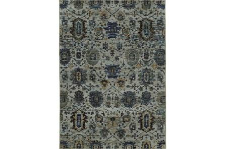 102X139 Rug-Yasmine Moroccan Blue/Olive