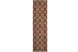 27X96 Rug-Safaa Tile Red