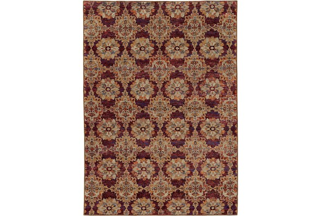 79X114 Rug-Safaa Tile Red - 360