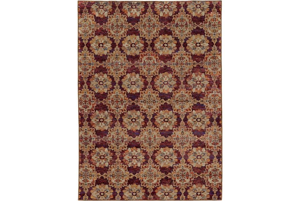94X130 Rug-Safaa Tile Red