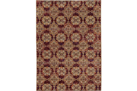 94X130 Rug-Safaa Tile Red