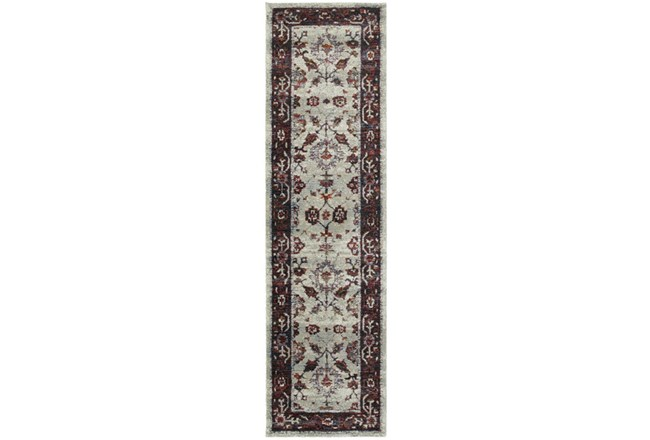 27X96 Rug-Mariam Moroccan Stone/Red - 360