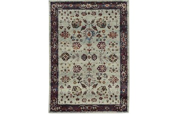 """6'6""""x9'5"""" Rug-Mariam Moroccan Stone/Red"""