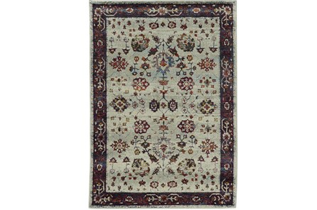 94X130 Rug-Mariam Moroccan Stone/Red - Main