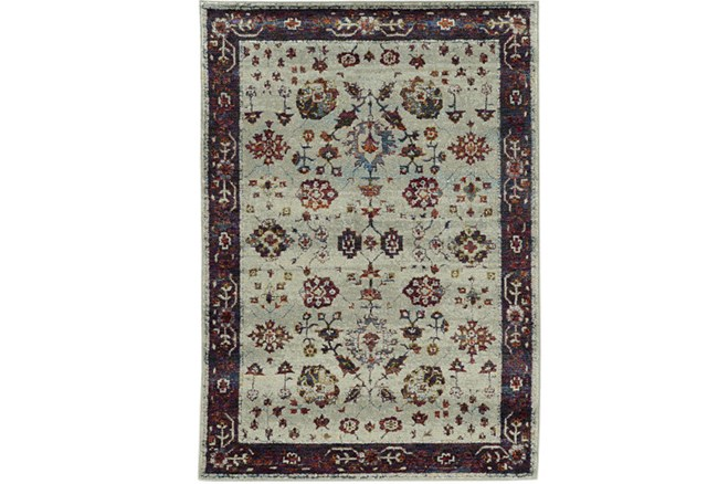 94X130 Rug-Mariam Moroccan Stone/Red - 360