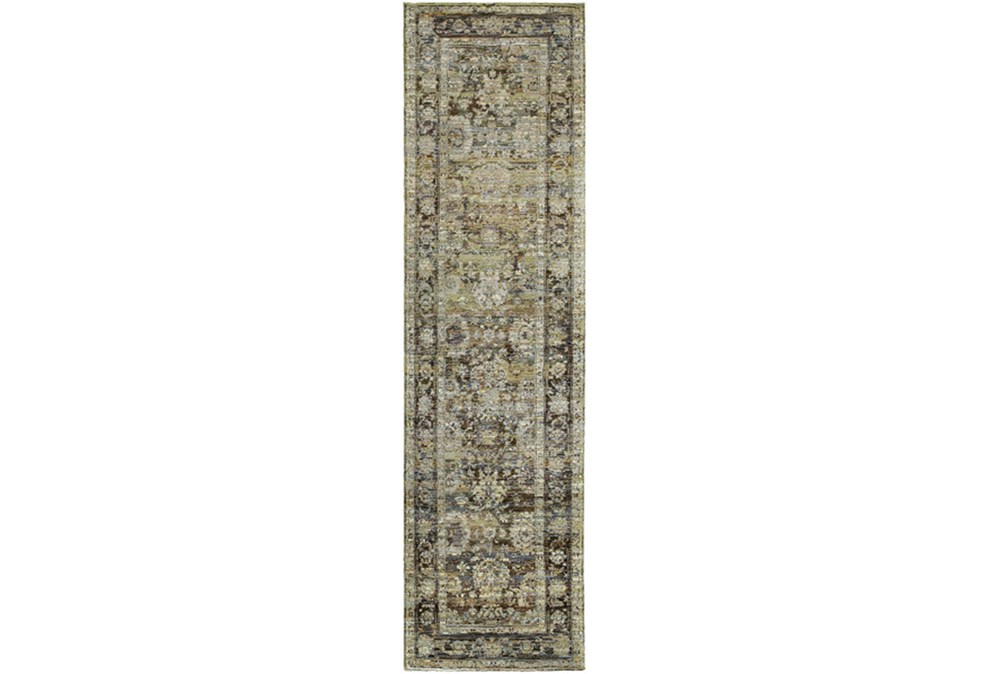 27X96 Rug-Mariam Moroccan Olive