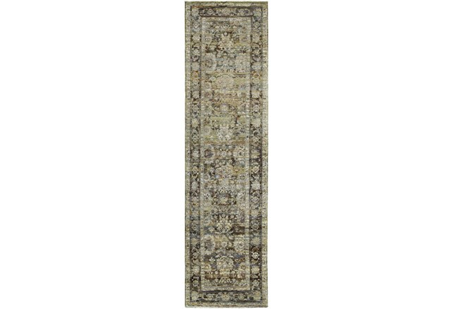 27X96 Rug-Mariam Moroccan Olive - 360