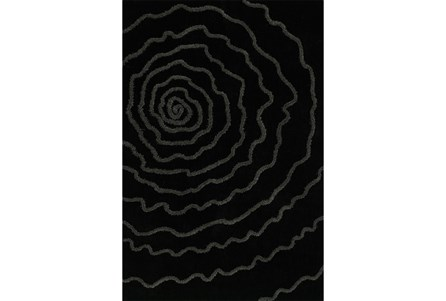 96X120 Rug-Modern Bloom Black