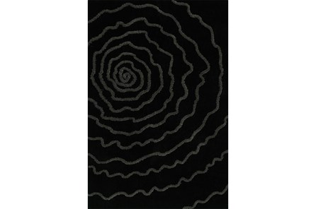 96X120 Rug-Modern Bloom Black - Main