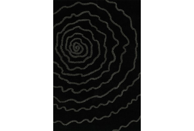 96X120 Rug-Modern Bloom Black - 360