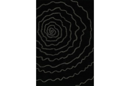 108X156 Rug-Modern Bloom Black