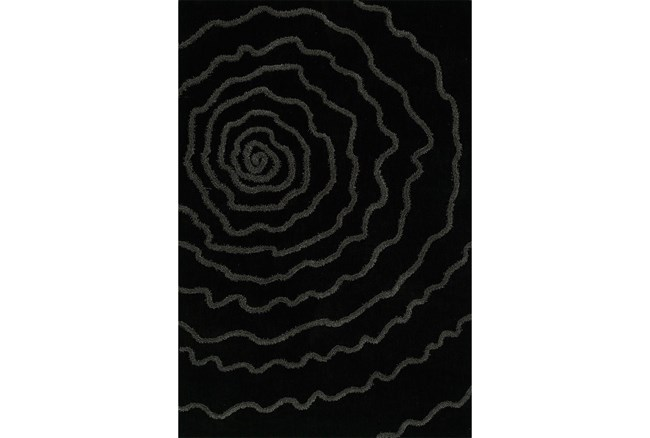 108X156 Rug-Modern Bloom Black - 360