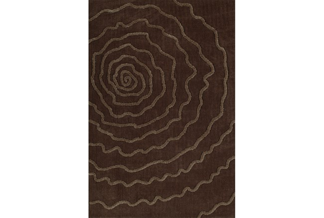 96X120 Rug-Modern Bloom Chocolate - 360