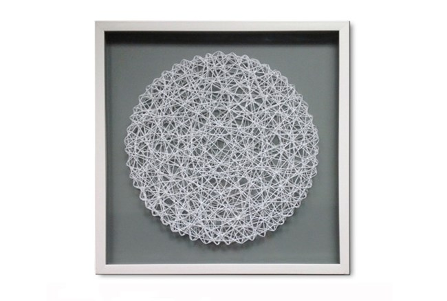 Picture-Floating White Nautical Rope Circle - 360