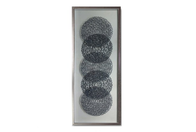 Picture-Floating Grey Nautical Rope 5 Circles - 360