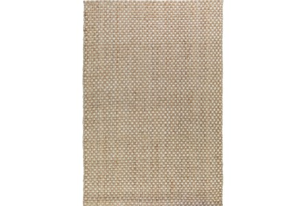 96X120 Rug-Natural Basketweave Jute