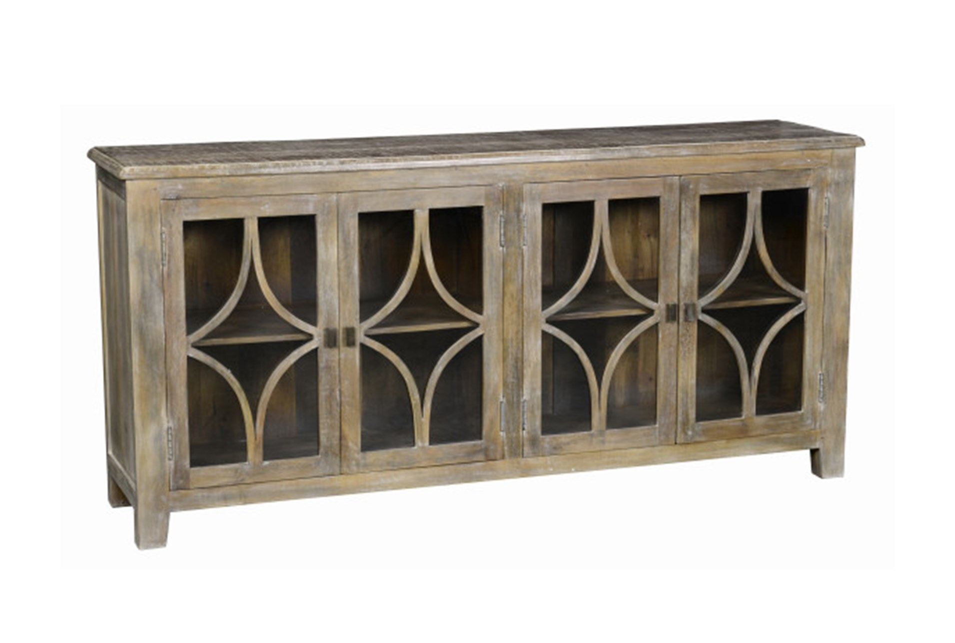 buffet server furniture. Mango Wood Grey 4-Door Buffet Server Furniture