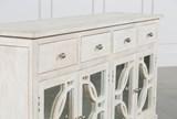 Mango Wood Grey 4-Drawer/4-Door Sideboard - Top