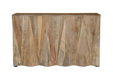 Mango Wood Natural Bar Cabinet