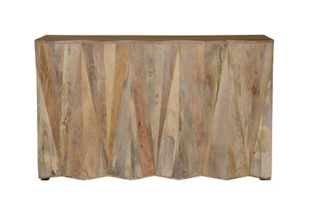 Mango Wood Natural Bar Cabinet - Main