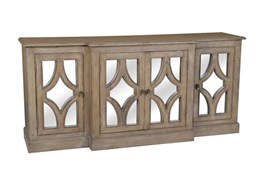 Acacia Wood 4-Door Sideboard