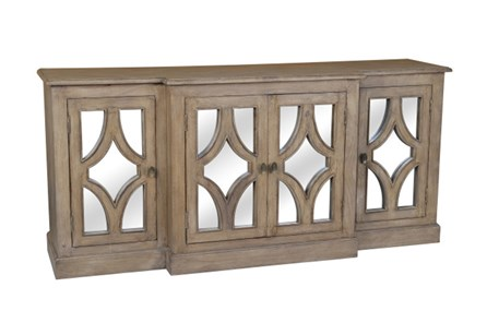 Acacia Wood 4-Door Sideboard - Main