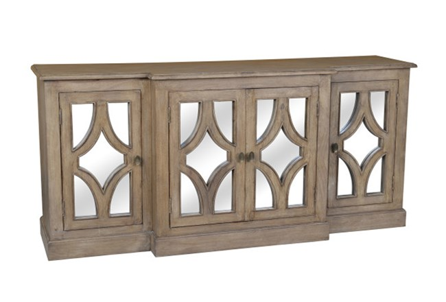 Acacia Wood 4-Door Sideboard - 360