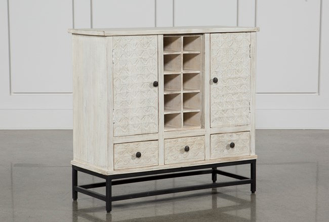 Antique White Wine Cabinet - 360