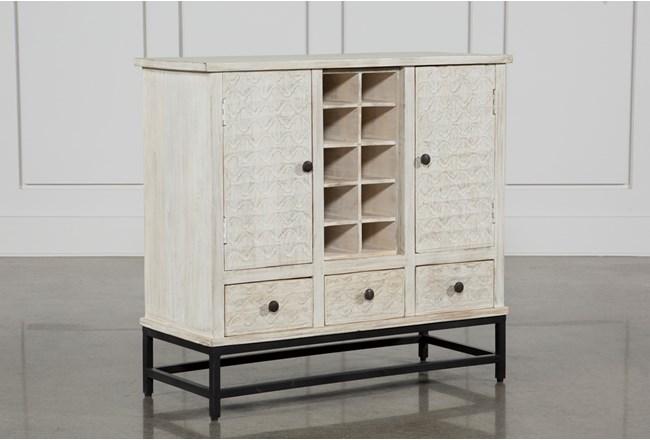 Antique White Wine Cabinet - 360