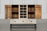 Antique White Wine Cabinet - Right