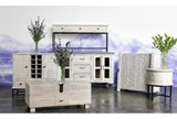 Antique White Wine Cabinet - Room