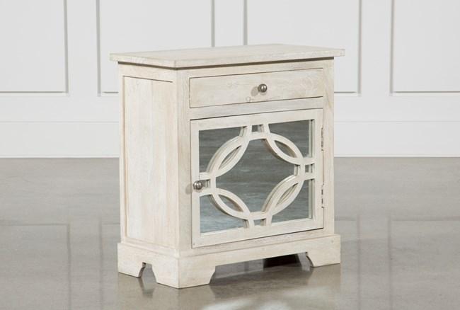 Mango Wood Grey 1-Drawer/1-Door Cabinet - 360