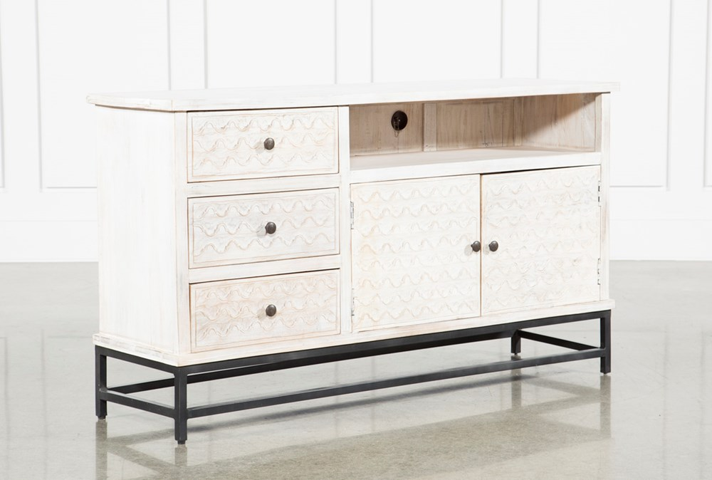 """Antique White 65"""" Sideboard"""
