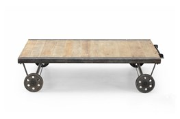 Natural Wheel Coffee Table