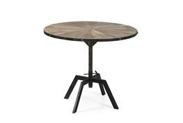 Natural Wood/Iron Pub Table