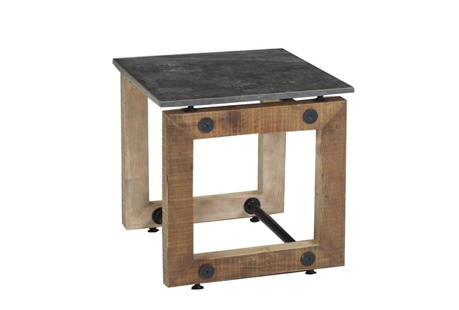 Natural Pine End Table - 360
