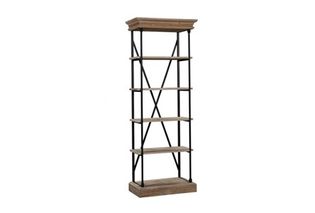 Black Narrow Bookcase