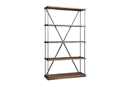 Natural 82 Inch Tall Medium Bookcase